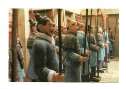 Cp, Sculptures, The Armed Soldiers In The Corrido Arranged In A Row (Chine), écrite - Sculture