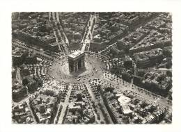 Cp, 75, Paris, L'Arc De Triomphe Et Place De L'Etoile, Voyagée 1956 - Arc De Triomphe
