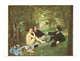 Cp, Peintures Et Tableaux, Edouard Manet - Le Déjeuner Sur L'Herbre - Malerei & Gemälde
