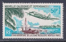 New Caledonia, Scott # C69 Mint Hinged Plane Over Outrigger Canoe, 1969 - Zonder Classificatie
