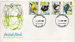 BRITISH BIRDS   FDC  U.K.  REINO UNIDO  OHL - 1971-1980 Decimal Issues