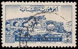 Lebanon Scott #217. 12.50p Blue (1948) Zubaida Aqueduck, Used - Liban