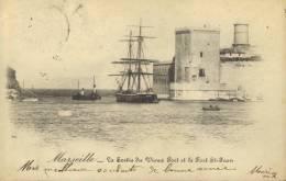 CPA Marseille: Vue Générale Du Vieux-Port Prise De N.D. De La Garde. - Old Port, Saint Victor, Le Panier