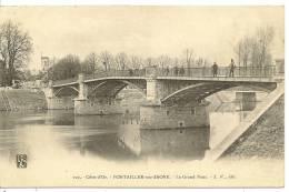 102 - PONTAILLER-SUR-SAONE - LE GRAND PONT ( Animées ) - France