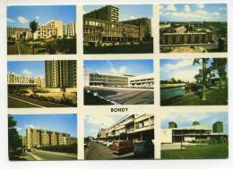 CPM - BONDY (83) Divers Aspects De La Ville (immeubles, Parking, école, Collège, Voitures...) - Bondy