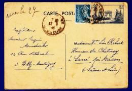 Entiers Postaux  Carte Type  De 1944 - Postwaardestukken