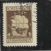 FIUME 1923 SAN VITO 15C TIMBRATO - 8. Occupazione 1a Guerra