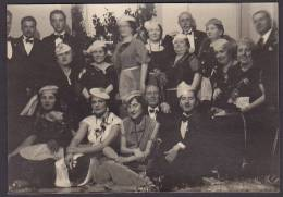 Italy Photo Cartolina Postale Fachists? Party Ca. 1930-40 (2 Scans) - Fotos