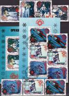 Olympiade Sarajevo 1984 Ski Sprung Langlauf Korea 2460/4,2ZD,Block 175+176 O 12€ Sport Winner Olympic Se-tenant Bf Corea - Corée (...-1945)
