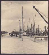 Italy Photo Fisher Boats In Harbour (2 Scans) - Schiffe