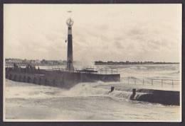 Italy Photo Harbour Pier W. Lighthouse Leuchturm Pfare (2 Scans) - Schiffe