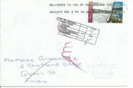 40  Cent Wellington Stamp 1841-1998 On  Envelope Unknown Address Return To Sender & On Back Postmark - New Zealand