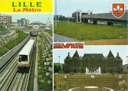 """CPSM De LILLE (59000) : Le Métro 'VAL"""". - Lille"""