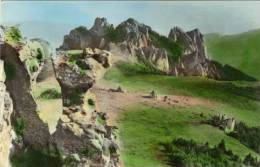 Postcard, Romania, RPR,  Ceahlau Mountains,  Road To Budu Tower (a Rock Named Budu)) - Romania