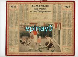 CALENDRIER - ALMANACH DES POSTES ET DES TELEGRAPHES 1925 - POULAILLER - POULE - COQ - PIGEON - LAPIN - BASSE COUR - Grand Format : 1921-40