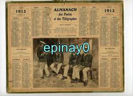 CALENDRIER - ALMANACH DES POSTES ET DES TELEGRAPHES 1912 - Fusilier Marin - Marine - - Grand Format : 1901-20