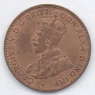 AUSTRALIA ONE HALF PENNY 1917 - Moneta Pre-decimale (1910-1965)