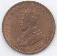 AUSTRALIA ONE HALF PENNY 1919 - Vordezimale Münzen (1910-1965)