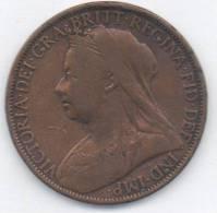 GREAT BRITAIN / GRAN BRETAGNA - QUEEN VICTORIA - 1 PENNY ( 1899 ) - 1902-1971 : Monete Post-Vittoriane