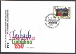 A039 FDC Slowenien Slovenia 1994 Mi.No. 79   850. Years Since The First Mentioning Of Ljubljana In Historic Sources - Slowenien