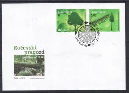 A005 FDC Slowenien Slovenia Europa CEPT 2011 Mi.No. 897 - 898 Tree Baum EUROPEAN Or COMMON BEECH THE PRIMEVAL FOREST - Bäume