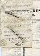 - Procès Verbal D´opposition, + Placard, Les Sieurs Crozet Contre Les Autres, Du 18-04-1830, Marseille, Voir Scans. - Affiches
