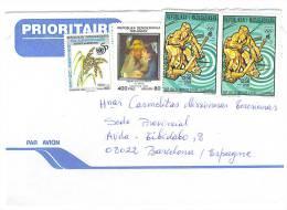 VEND TIMBRES DE MADAGASCAR N° 1791 + 996 + 1643A X 2 , SUR LETTRE , COTE : ?,?,?,?, !!!! (c) - Madagascar (1960-...)
