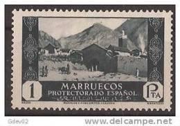 MA143-LB063TARM.Marruecos . Maroc  Marocco MARRUECOS ESPAÑOL VISTAS Y PAISAJES.1933/5. (Ed 143**) Sin Charnela LUJO RARO - Mezquitas Y Sinagogas