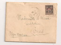 Lettre - BFE TURQUIE - CONSTANTINOPLE-PERA Càd S/TP Du Levant N°4 - 1902 - 1858-1921 Empire Ottoman