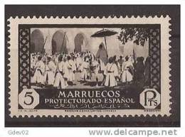 MA146-LB065TFSC.Maroc Marocco MARRUECOS ESPAÑOL.Boda Del Jalifa. VISTAS Y PAISAJES 1933/5. (Ed 146**) Sin Charnela.LUJO - Fiestas