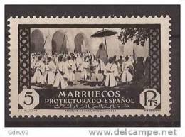 MA146-LB065TRI.Maroc Marocco MARRUECOS ESPAÑOL.Boda Del Jalifa. VISTAS Y PAISAJES 1933/5. (Ed 146**) Sin Charnela.LUJO - Islam