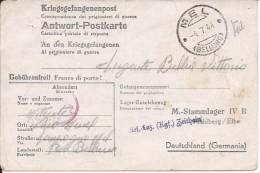Ww2 Prigionieri Di Guerra - Corrispondenza Da Mel Per La Germania - Prigione E Prigionieri