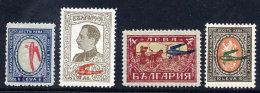 BULGARIA 1927 Airmail Overprint Set ** / *.  Michel 206-08 - Unused Stamps