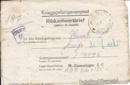 Ww2 Prigionieri Di Guerra - Corrispondenza Da Arsiè (Belluno) Per La Germania - Prigione E Prigionieri
