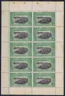 Belgium Congo , OBP 64 ,  1915 Part Of Carnet, Some Stains - Postzegelboekjes