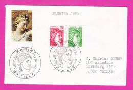 SABINE 59 LILLE Premier Jour 1977 - FDC