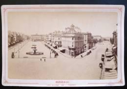 PHOTOGRAPHIE CARTONNEE XIXeme : BORDEAUX LES ALLEES DE TOURNY 33 GIRONDE PAR GUSTAVE PUJIBET - Photographs
