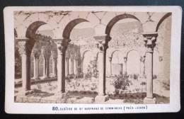 PHOTO CDV XIXeme : LE CLOITRE DE SAINT-BERTRAND DE COMMINGES PRES DE LUCHON PAR E. SOULE PYRENEES - Photographs