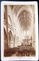 PHOTO CDV XIXeme : CAEN INTERIEUR DE L'EGLISE ST-PIERRE 14 CALVADOS - Unclassified
