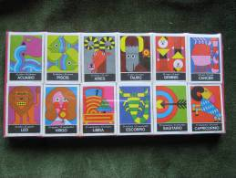 12 Cajas De Cerillas Coleccion Signos Zodiaco (Fosforos Del Pirineo) Ilustraciones Cruz Novillo+Olmos - Scatole Di Fiammiferi
