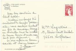 Moselle :  SAINT  AVOLD  : La  Basilique  ( Timbre  Neuf !) - Saint-Avold