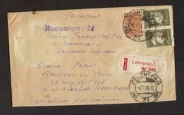 Recommandé Leningrad Pour Paris Non Distribué Avec Motif - 1923-1991 URSS
