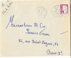 Bureau De Distribution:  Effiat  Puy De Dome 26/2/63 - Marcophilie (Lettres)
