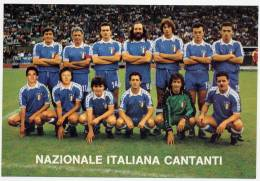 NAZIONALE ITALIANA CANTANTI, TORINO - STADIO COMUNALE 1986. - Football