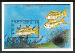 1972 Brithis Virgin Island Vita Marina Marine Life Pesci Fish Poissons Block MNH** Po41 - British Virgin Islands