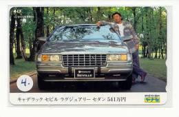 Telecarte Japon Voiture CADILLAC * OLDTIMER *  Phonecard CAR (4) Telefoonkaart AUTO * WAGEN * - Auto's