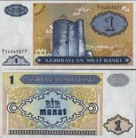 Azerbaidjan - Azerbaijan Billet De 1 Manat Pick 14 Neuf 1er Choix UNC - Azerbaïjan