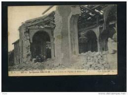 Belleville Les Ruines De L´Eglise - Guerre 1914-18