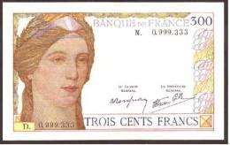 France - Fantaisie   Billet Fictif De  300 Francs - Petit Format  UNC -  No Value - Specimen