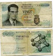 Belgique Billet De 20 Francs Pick 138 Neuf 1er Choix Ayant Circulé - [ 2] 1831-... : Royaume De Belgique